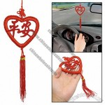 Vehicle Decor Red Tassel Heart Pendant Chinese Knot Ornament Hanging