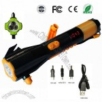 Vehicle Multifunctional Peripheral Emergency Flashlight with Hammer