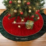 Velvet Splendor Personalized Tree Skirt