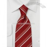 Venetian Red Silk Tie by Cavallieri