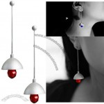 Vertical Lamp Earrings