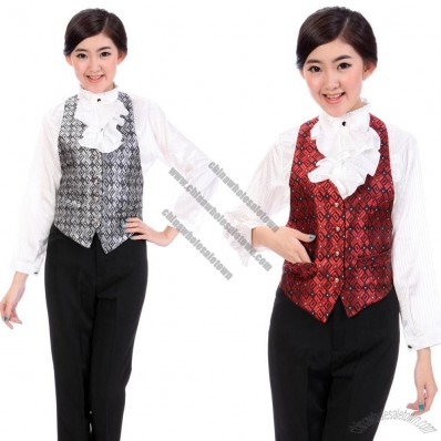 Vest Restaurant Uniforms Work Wear KTV Vest Front Desk Uniform