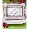 Victorian design frame/place-card holders - Pink