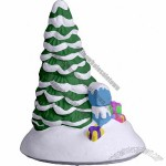 Village Tiny Tree by Mailbox Statue Plaster Craft
