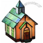Villager Tiffany Church Accent Lamp