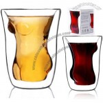 Vime Naked Sexy Body Shot Glass Double Wall Cup