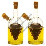 Vinegar Oil Carafe Bottle With Two Cork Stoppers