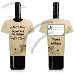 Vintage Birthday Wine Bottle Gift Card