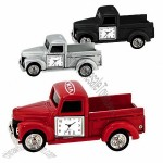 Vintage Die Cast Metal Pickup Truck with Clock