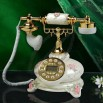 Vintage Old Fashioned Pink Rose Telephone Classical European style