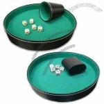 Vinyl Dice Cup Set with Tray, Tray Measures 27 x 4cm