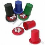 Vinyl Dice Game Set with 5pcs 16mm Dice and Tray
