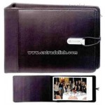 Vinyl photo album with microfiber trim
