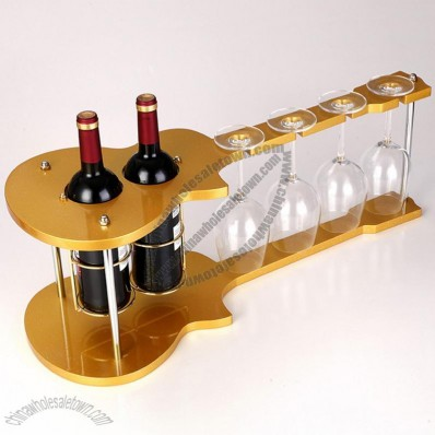 Violin Wine and Goblet Rack