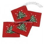 Waechtersbach Christmas Tree Embroidered Coasters Set