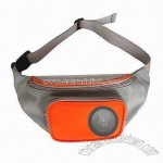 Waist Bag with One Front Radio Speaker Pocket