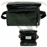 Waist wallet with front zippered organizer, Napa