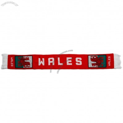 Wales National Rugby Team Fans Scarf