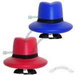 Walking Cowboy Hat Stress Ball Winder Toy