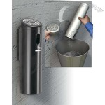 Wall-Mounted Swivel Cigarette Receptacle