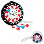 Wall magnetic dart board with four darts