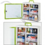 Wall-mountable First Aid Box with Handle and Lock
