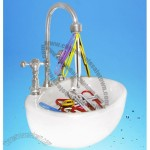 Wash Basin Shaped Magnetic Clip Holder