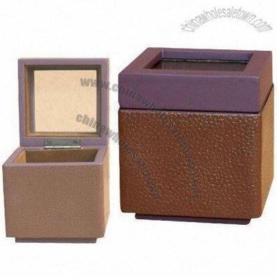 Watch Box, Made of MDF, Leather, Rubber Paint