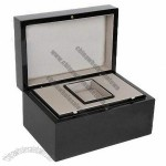 Watch Gift Box Made of Wood, Luxury High-end Black Finish