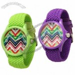Watches With Fabric Strap, Chevron Patter