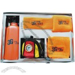 Water Bottle, Wrist, Headband, Square Towel, Bag Watch Sports Gifts Set