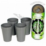Water Cup Sets with Bottle Opener