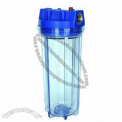 Water Filter Bottle with 3/4-inch Plastic Port, Made of ABS