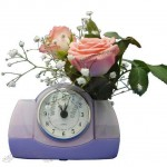 Water Powered Clock with Flower Holder