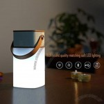Water Resistant Bluetooth Speaker with LED Lamp