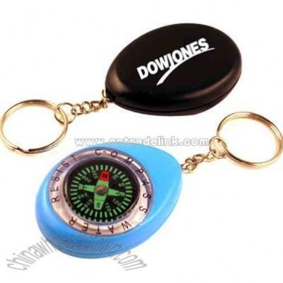 Water resist compass with key chain