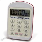 Water-resistant Countdown Timer Clock with Adjustable Buzzer Volume