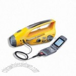 Water-resistant Crank Dynamo Radio Light with Mobile Phone Charger