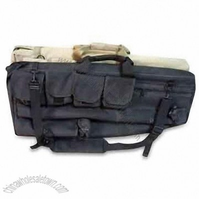 Water-resistant Gun Case with Exterior and Interior Molle Compatible Panels