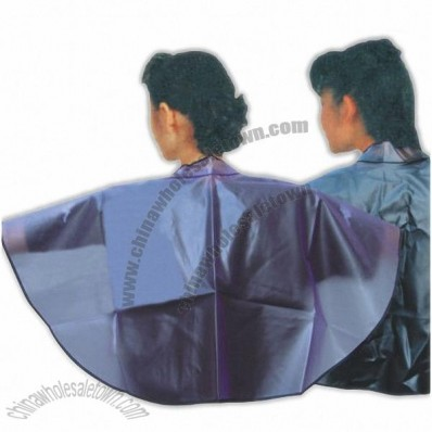 Waterproof Hair Salon Dye Dressing Cape with PVC + Polyester