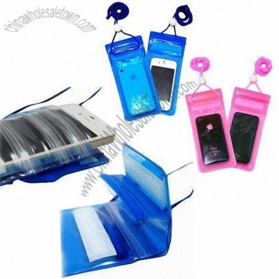Waterproof PVC Holder for iPhone with 3 Lock Zipper Closures
