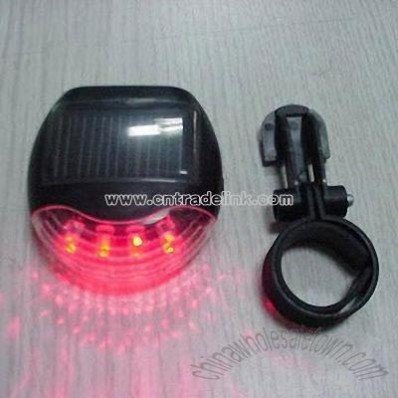Waterproof Solar Tail Light for Bicycle
