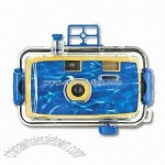 Waterproof manual camera with flash
