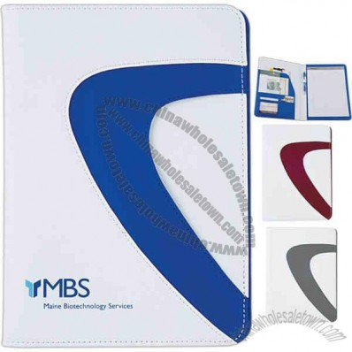 Wave - Pad Folio Made Of Vinyl And 150 Denier Polyester