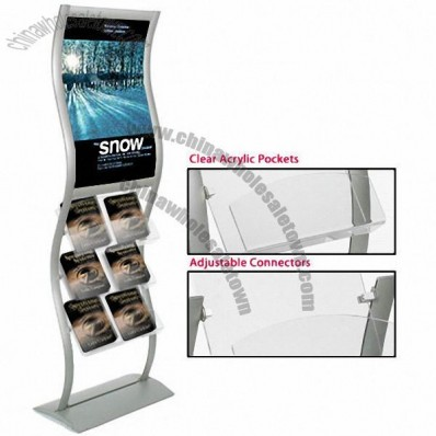 Wave Catalog Display Stand w/ Graphic Area