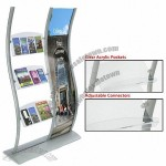Wave Leaflet Dispensers Include 3 Clear Acrylic Pockets