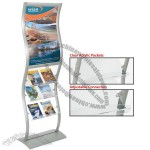 Wave Rack with Clear Literature Holder