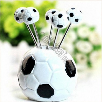 Wedding Gift Soccer/Football Create Fruit Fork
