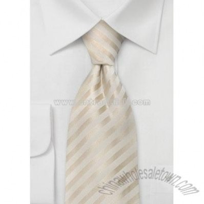 Wedding Neckties Ivory Color Silk Tie