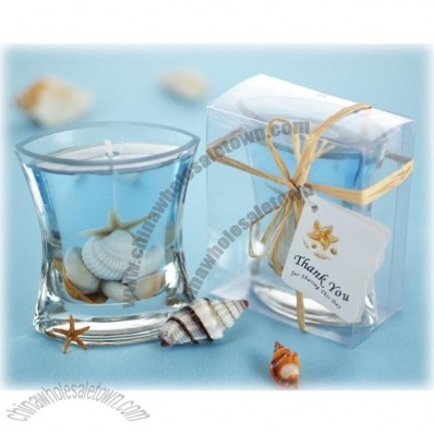 Wedding Seashells Gel Candle